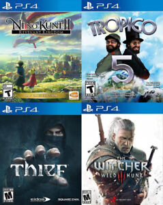 Selling/Trading PS4 Ni No Kuni 2, Thief, Tropico, Witcher 3