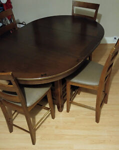 Pub style set of 4 chairs