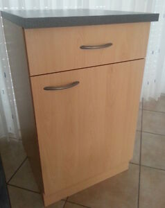 Base cabinet mankaportable beech with countertop 50 wide for 50cm deep kitchen units