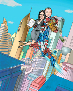 CARICATURE ARTIST draws  the MARVEL WAY: AMAZING GIFTS!!!