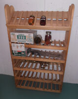 Sturdy Wooden Shelving - Wine or Canned Goods