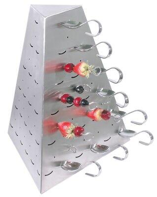 Buffet Pyramide aus Edelstahl, zur Aufbewahrung von Partylöffeln & Spießen
