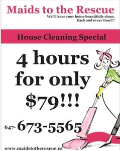 Great House Cleaning Special: 4 hrs for only $79!!!   Call Today