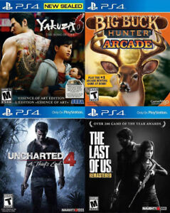 Selling/Trading PS4 Yakuza, Big Buck Hunt, Uncharted, Last Of Us