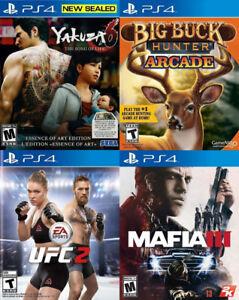 Selling/Trading PS4 Yakuza 6, Big Buck Hunter, UFC 2, Mafia 3