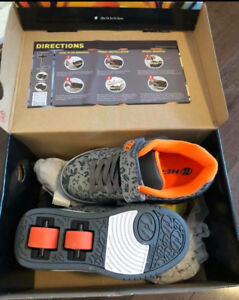 Brand New Heelys Youth Boys Dual x2 Sneakers (Size 12 & 13)