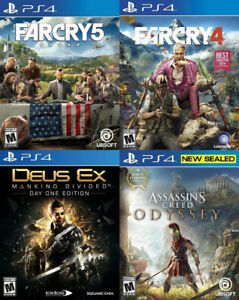 Selling/Trading PS4 Farcry 5 & 4, Deus Ex, Assassins Odyssey