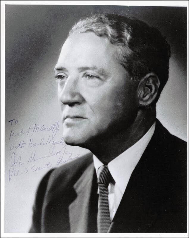 JOHN SHERMAN COOPER - INSCRIBED PHOTOGRAPH SIGNED