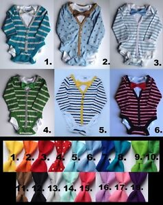 Baby boy onesie cardigans with tie for Christmas, 6-12 months