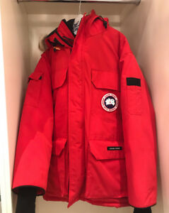 Canada Goose Red PBI Expedition Parka