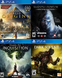 Selling/Trading PS4 Assassins, Mordor, Dragon Age, Dark Souls 3