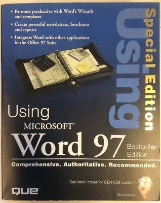 Using Microsoft Word 97  Softback  1997  Bill Camarda Preownedbook Com