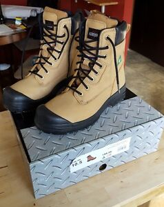 Steel toe work boots, worn once.
