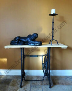 Table console style industrielle