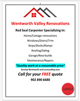 Wentworth Valley Renovations