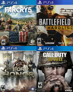Selling/Trading PS4 Farcry 5, COD WW2, For Honor, Battlefield