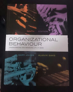 Selling: Organizational Behaviour 9th Edition