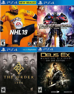 Selling/Trading PS4 NHL 19, Transformers, Deus Ex, The Order