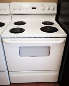 """GE White 30"""" Electric Stove"""