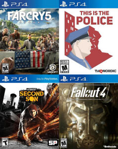 Selling/Trading PS4 Farcry 5, Infamous, This Is Police, Fallout