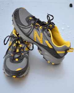 Mens Black and Yellow New Balance Sneakers