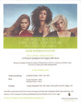 Hair models wanted for the Calgary ABA show Oct. 1,2,& 3, 2016