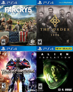 Selling/Trading PS4 Farcry, Transformers, Alien Isolation, Order
