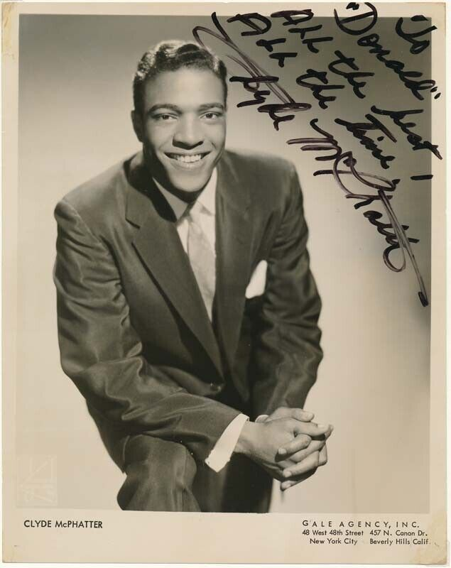 Clyde McPHATTER / Inscribed Photograph Signed