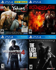 Selling/Trading PS4 Yakuza, Bound By Flame, Uncharted, Last OfUs