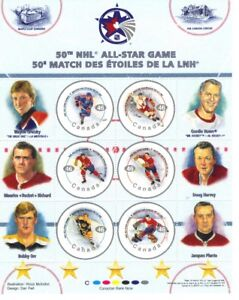 Canada Stamps 50th NHL All-Star Game 46c (Set of 6) Qty 2