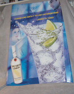 Bacardi Limon and Tonic  Tin Sign Belleville Belleville Area image 3