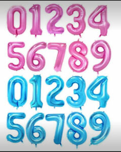 """40"""" Giant Foil Balloons 40 (gold, blue, pink)"""