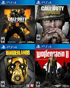 Selling/Trading PS4 Black Ops 4, WW2, Borderlands, Wolfenstein