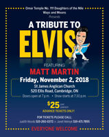 TRIBUTE TO ELVIS CONCERT