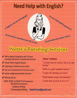 College/University English Tutoring for ESL,IELTS,Writing +more