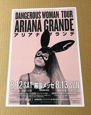 2017 Ariana Grande photo JAPAN concert tour flyer / mini poster / japanese MINT