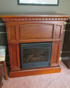 Beautiful Electric Fireplace and Mantle- Excellent Condition