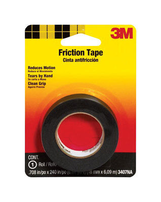 3m 0.708 In. W X 240 In. L Black Cotton Cloth Friction Tape
