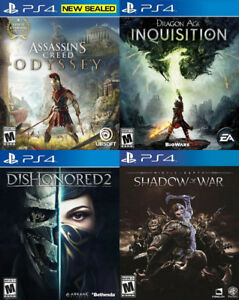 Selling/Trading PS4 Assassins, Dragon Age, Shadow War, more