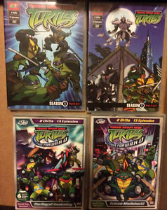 Assorted ninja turtles dvd's seasons