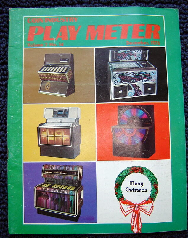 vintage 1976 arcade pinball PLAY METER MAGAZINE~Atari;Maze;Jukebox;Alley Rally