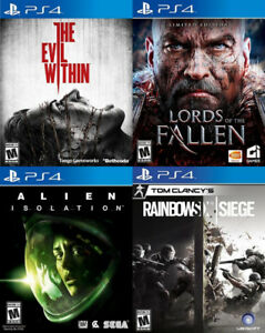 Selling/Trading PS4 Lords Of Fallen, Alien, Evil Within, more
