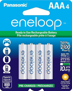 Panasonic Eneloop Nimh Rechargeable AAA Batteries B.N Sealed