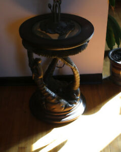 Monkey palm tree end table 25 H x 18 inches