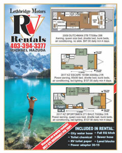 Travel by RV Trailer Rental this summer!