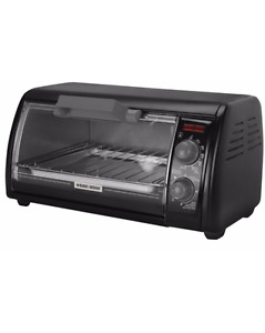 Black & Decker Toaster Oven, Black, 4-slice - like new