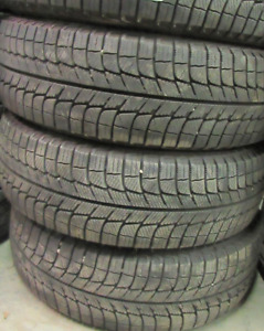 P195/60/16 Passenger Tires Michelin X-Ice at 90% tread 4 TIRES