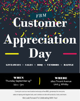 FBM Whitby Customer Appreciation Day