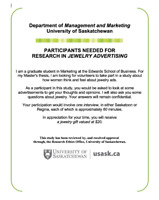 Participants needed for jewelry advertising study!