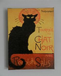 """★NEUF★ Célèbre toile """"Tournée du chat noir"""" 16""""x12"""" (41cm x 31cm"""
